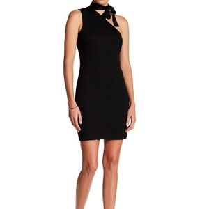1. State One Shoulder Tie Neck Dress